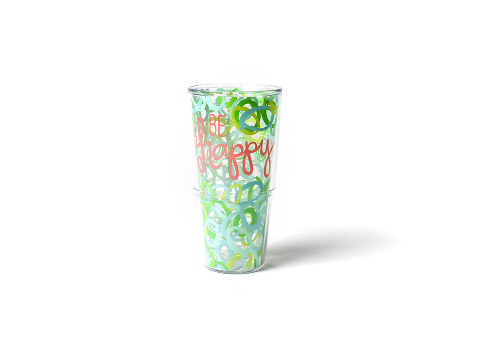 Happy Everything Hula Be Happy 24 oz Tumblers-Coton Colors-The Bugs Ear