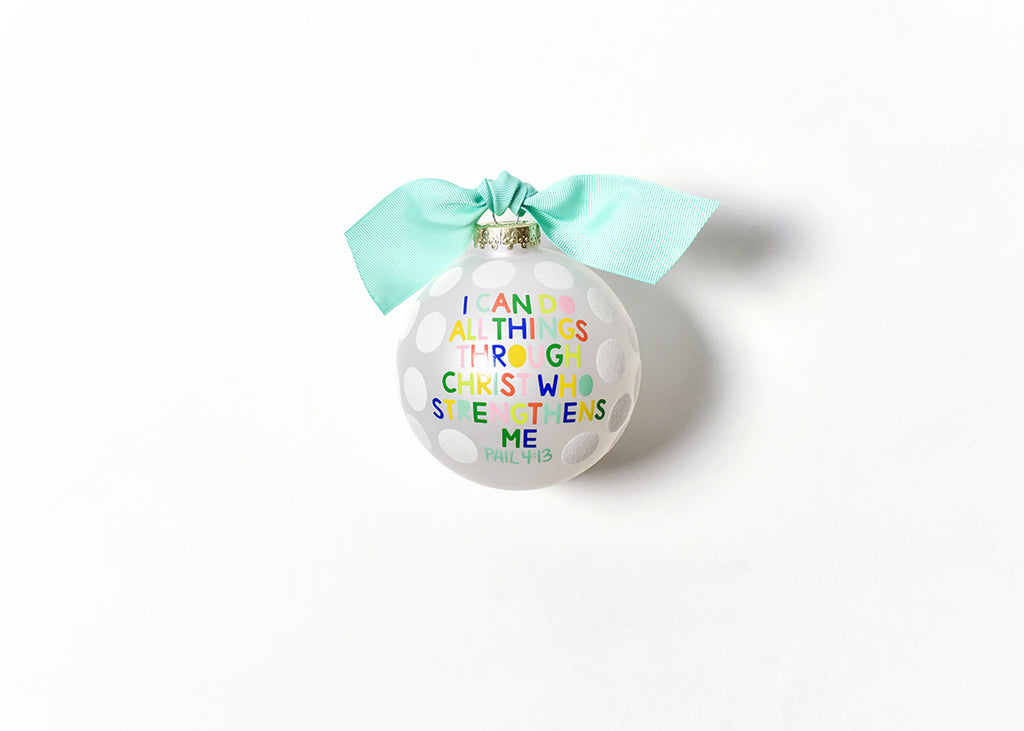 Coton Colors I Can Do All Things Glitter Dot Glass Ornament-Coton Colors-The Bugs Ear