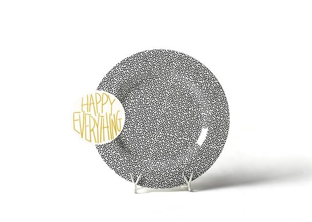 Happy Everything Black Small Dot Big Entertaining Platter with Happy Everything Attachment-Coton Colors-The Bugs Ear