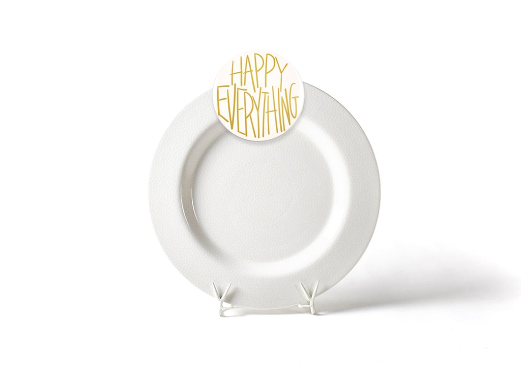 Happy Everything White Small Dot Big Entertaining Platter with Happy Everything Attachment-Coton Colors-The Bugs Ear
