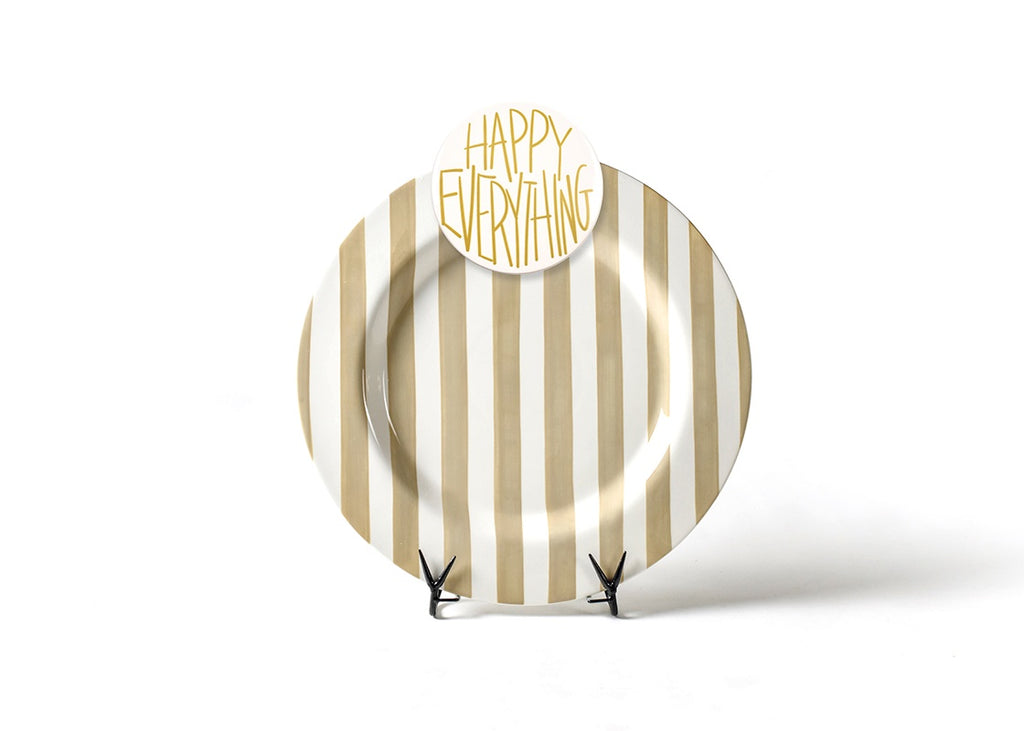 Happy Everything Neutral Stripe Big Entertaining Platter with Happy Everything Attachment-Coton Colors-The Bugs Ear