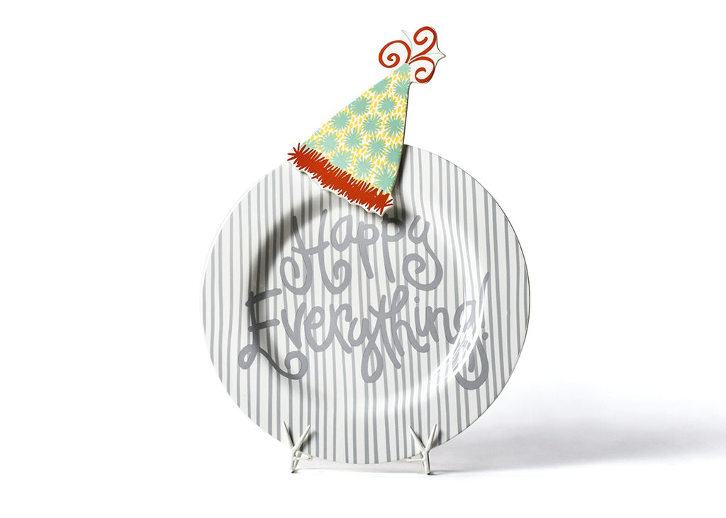 Happy Everything Stone Skinny Stripe Happy Everything Big Platter with Pom Hat Big Attachment-Coton Colors-The Bugs Ear