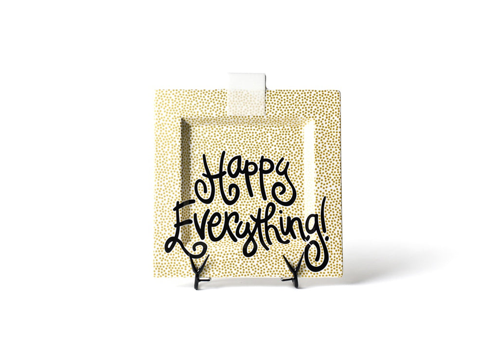 Happy Everything Gold Small Dot Big Happy Everything Square Platter-Coton Colors-The Bugs Ear