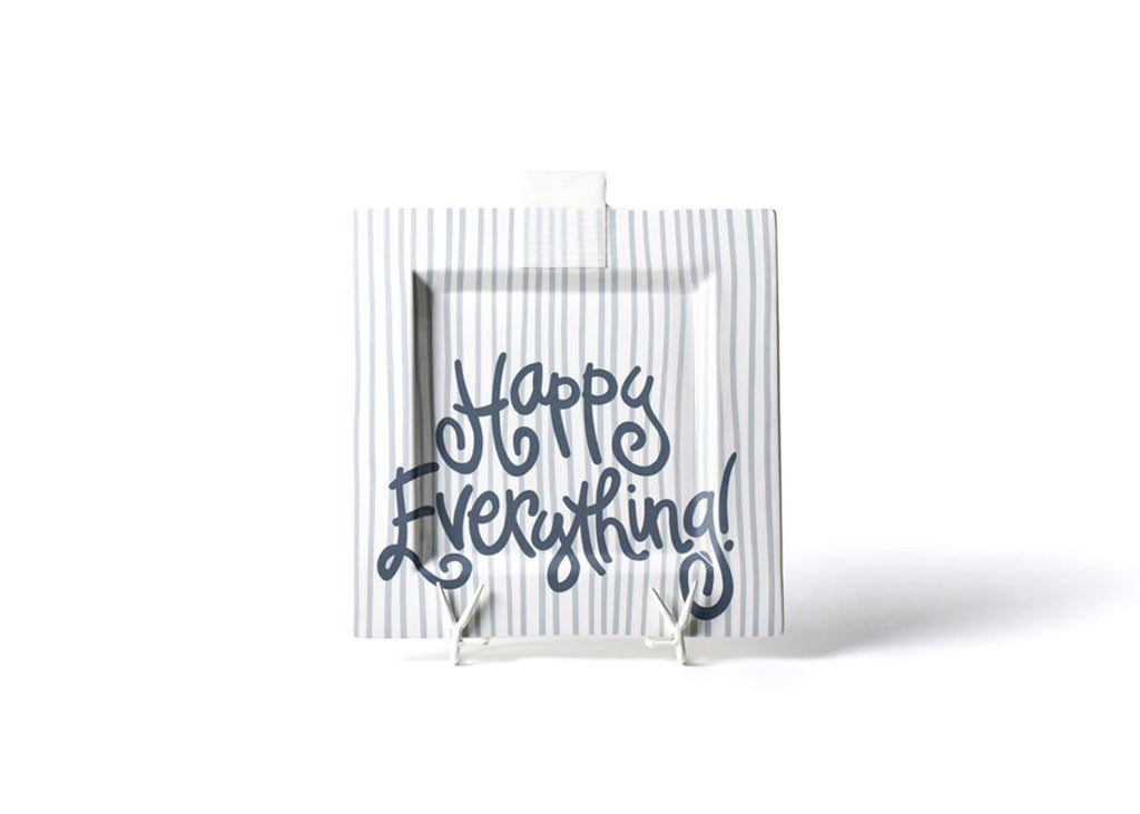 Happy Everything Stone Stripe Big Happy Everything! Square Platter-Coton Colors-The Bugs Ear