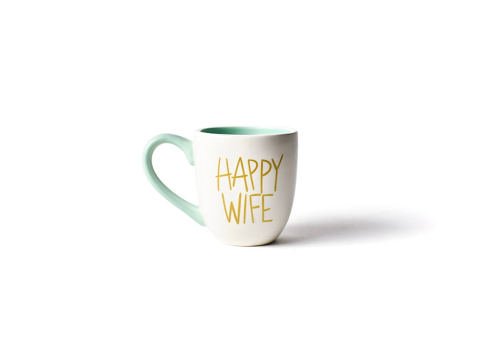 Happy Everything White Happy Wife Mug-Coton Colors-The Bugs Ear