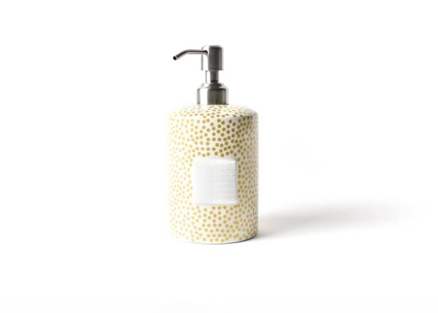 Happy Everything Gold Small Dot Mini Cylinder Soap Pump-Coton Colors-The Bugs Ear