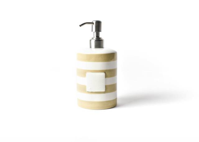 Happy Everything Neutral Stripe Mini Cylinder Soap Pump-Coton Colors-The Bugs Ear