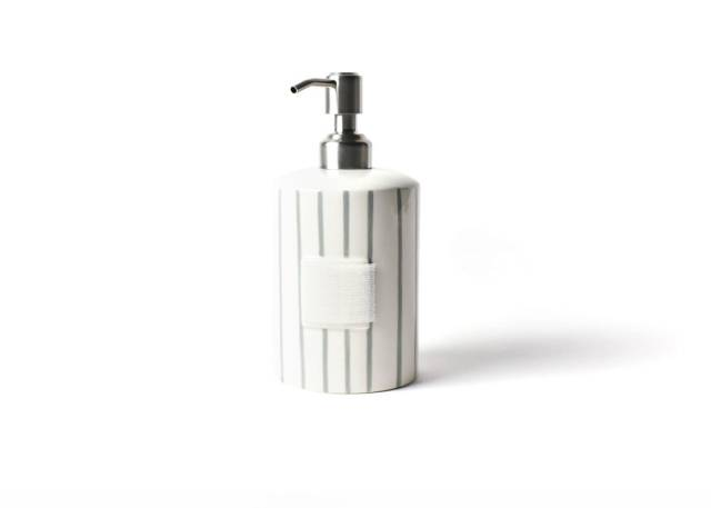 Happy Everything Stone Skinny Stripe Mini Cylinder Soap Pump-Coton Colors-The Bugs Ear