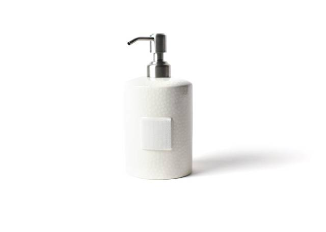 Happy Everything White Small Dot Mini Cylinder Soap Pump-Coton Colors-The Bugs Ear