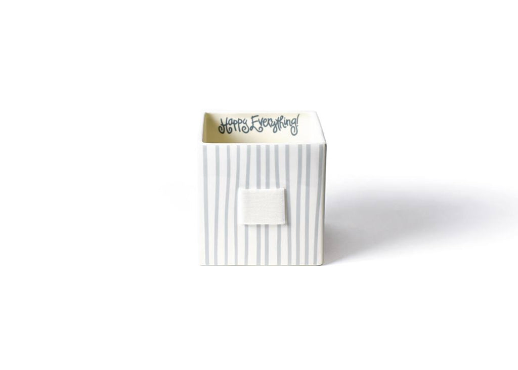 Happy Everything Stone Stripe Mini Nesting Cube Medium-Coton Colors-The Bugs Ear