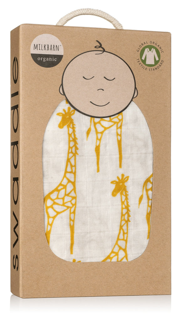 Milkbarn Swaddle Yellow Giraffe-Milkbarn-The Bugs Ear