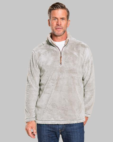 True Grit Pebble Pile Quarter Zip Pullover in Faded Heather-True Grit-The Bugs Ear
