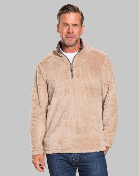 True Grit Pebble Pile Quarter Zip Pullover in Sand-True Grit-The Bugs Ear