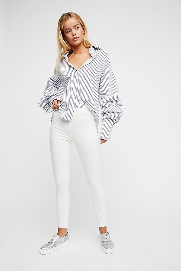 Free People Easy Goes It White Jeans-Free People-The Bugs Ear