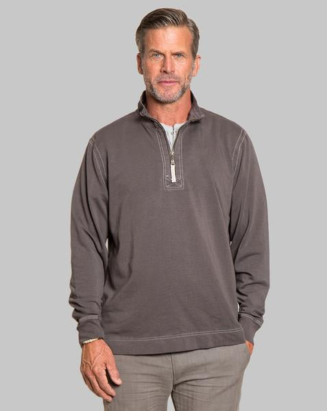 True Grit Men's Cashmere Heather Fleece Zip Pullover in Carbon-True Grit-The Bugs Ear