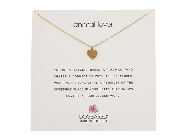 Dogeared Animal Lover Necklace in Gold-Dogeared-The Bugs Ear