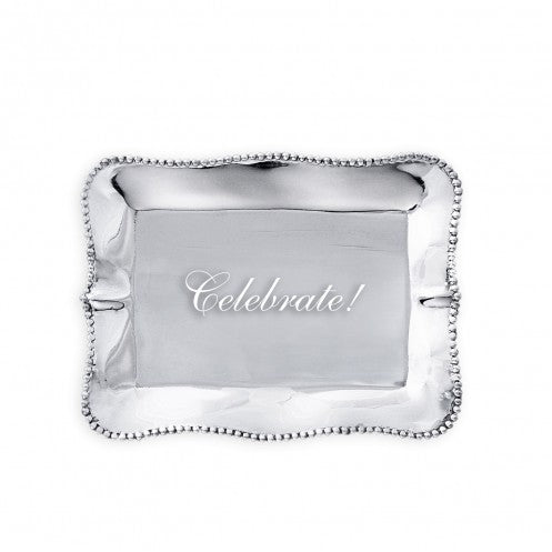 Beatriz Ball Giftables Pearl Rectangle Engraved Tray Celebrate-Beatriz Ball-The Bugs Ear