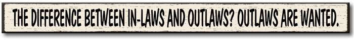 Skinny Signs Wooden Home Decor-My Word!-The Bugs Ear