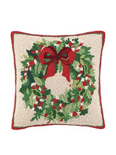 Classic Christmas Wreath Hook Pillow-Peking Handicraft-The Bugs Ear