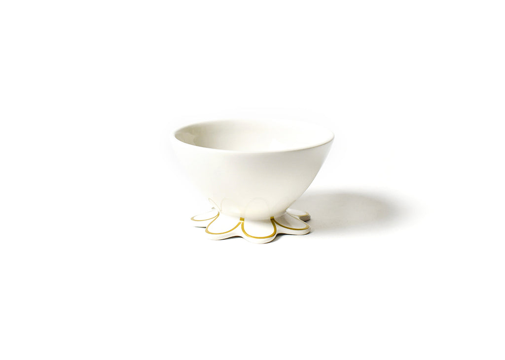 Coton Colors Gold Scallop Small Bowl-Coton Colors-The Bugs Ear