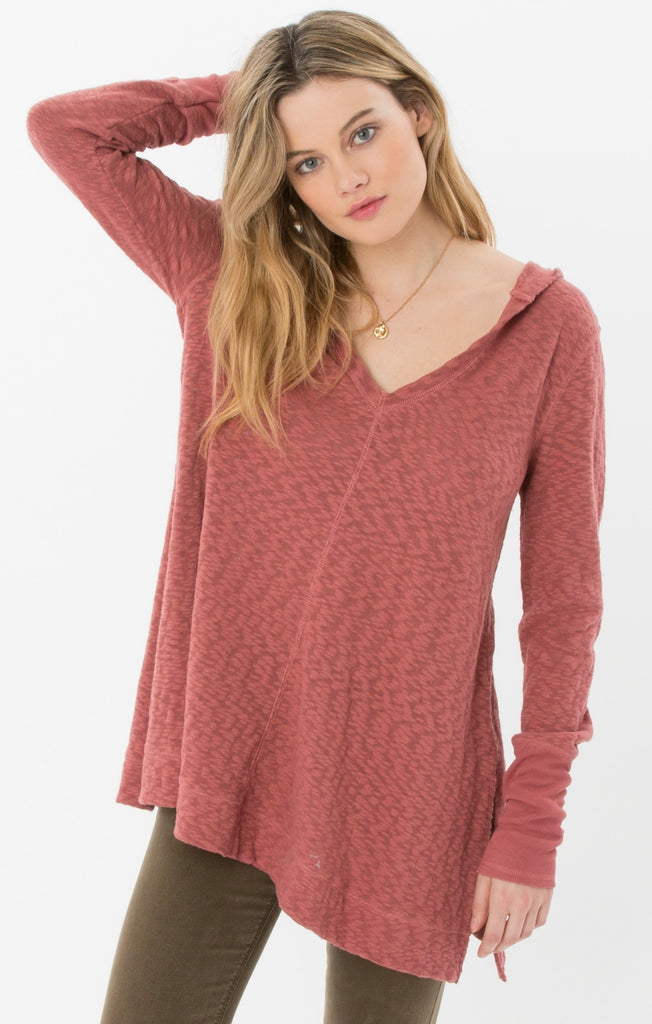 Alpine Hooded Knit Top in Apple Butter-Rag Poets-The Bugs Ear