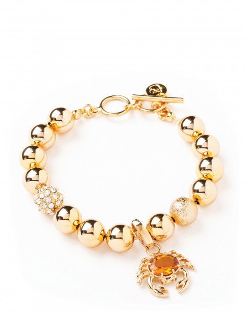 Spartina Beaded Bracelet (10mm Gold)-Spartina-The Bugs Ear