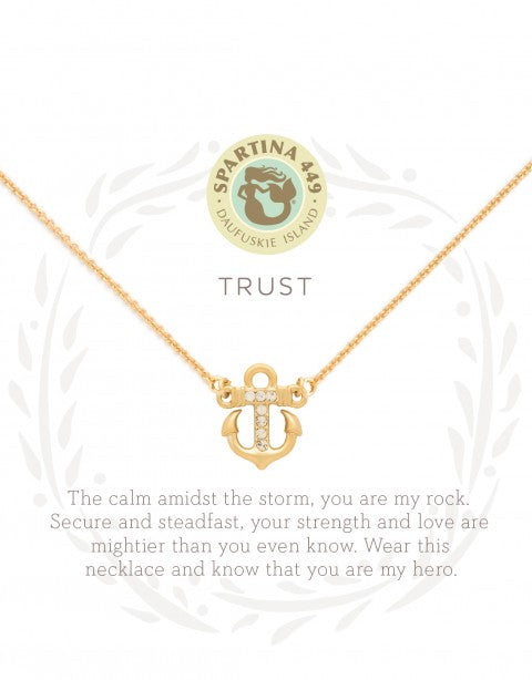 "Spartina Sea La Vie Necklace 18"" Trust/Anchor-Spartina-The Bugs Ear"