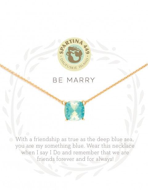 "Spartina Sea La Vie Gold Necklace 18"" Be Marry Something Blue-Spartina-The Bugs Ear"