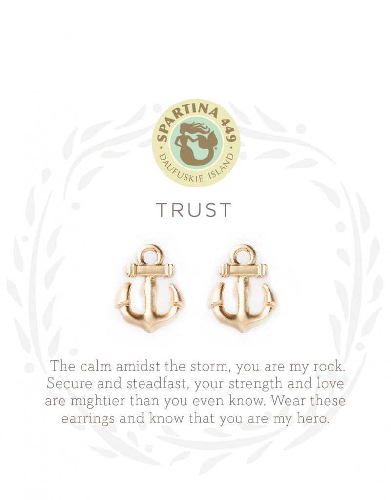 Spartina Stud Earrings Trust Gold-Spartina-The Bugs Ear