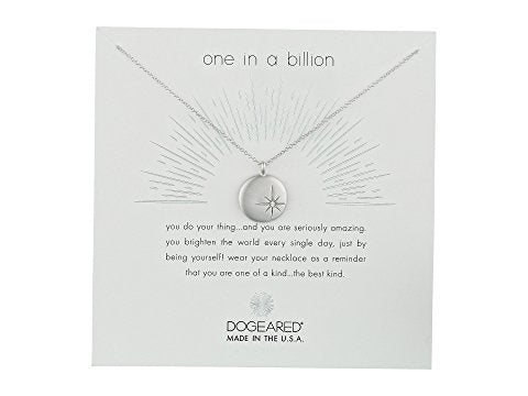 Dogeared One in a Billion Sparkle Star Disc in Silver-Dogeared-The Bugs Ear