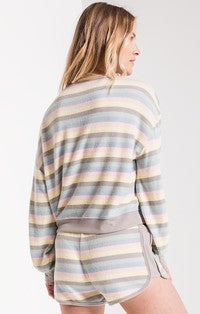 Vera Rainbow Stripe Pullover-Z Supply-The Bugs Ear