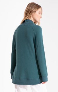 Alicia Soft Spun Knit Mock Neck Pullover Pacific Blue-Z Supply-The Bugs Ear