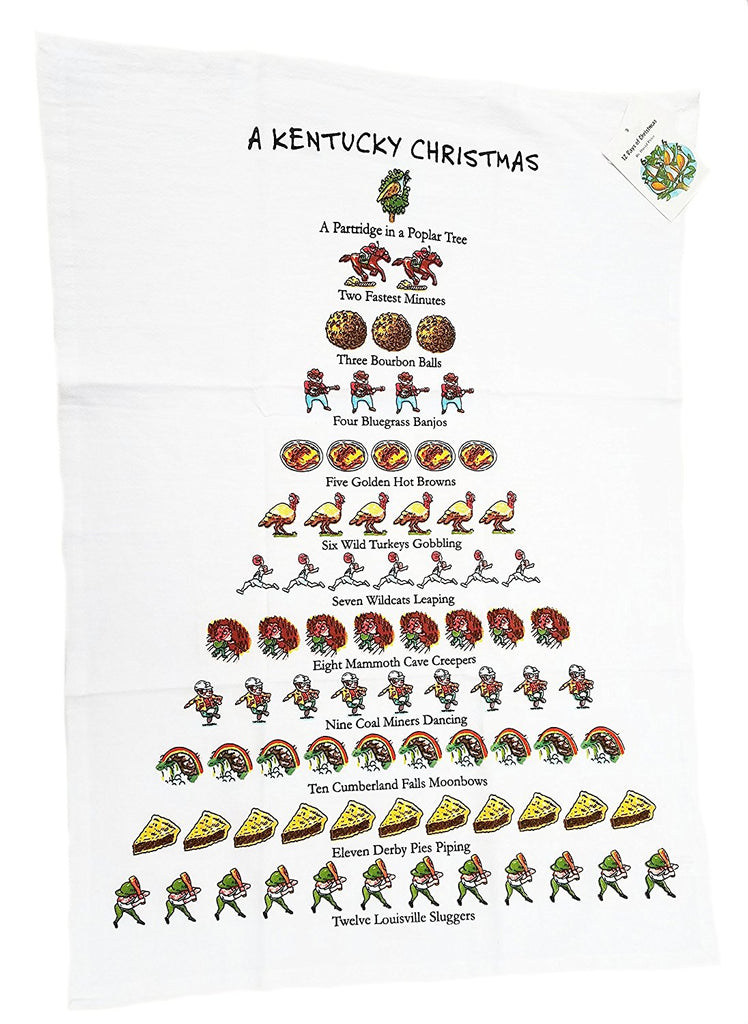 A Kentucky Christmas Tea Towel-Peking Handicraft-The Bugs Ear