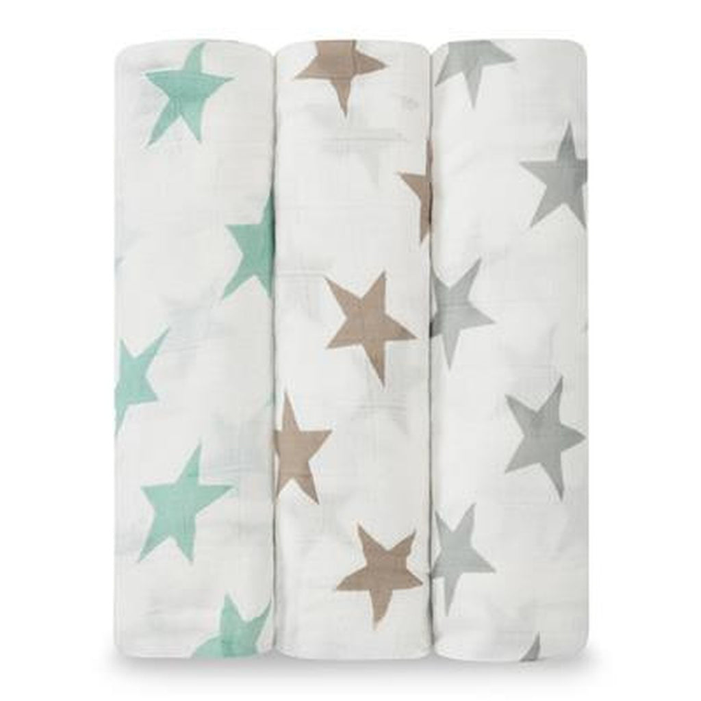 Aden and Anais Bamboo Swaddle 3 pack Set Milky Way-Aden + Anias-The Bugs Ear