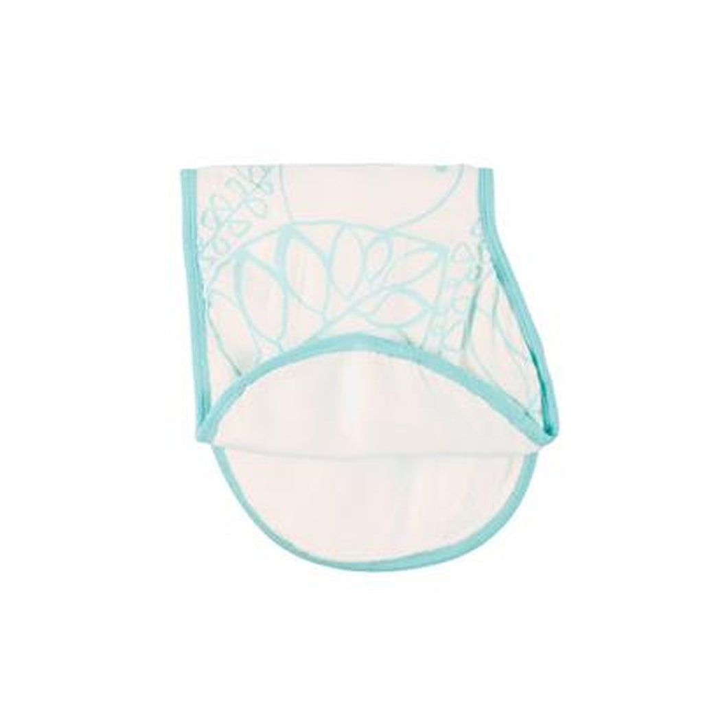 Aden and Anais Bamboo Snap Bib Light Blue and White-Aden + Anias-The Bugs Ear