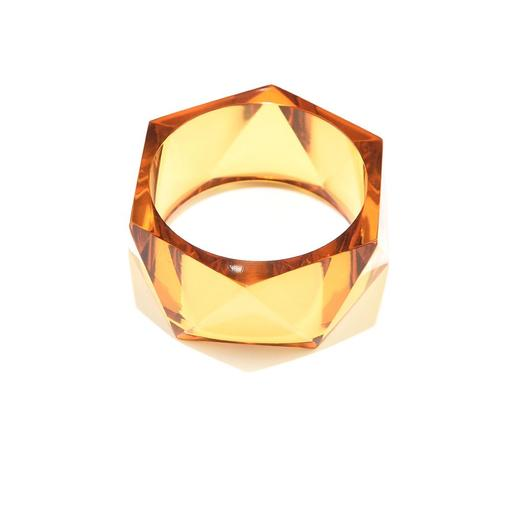 INK ALLOY Amber Lucite Faceted Bangle-INK + ALLOY-The Bugs Ear
