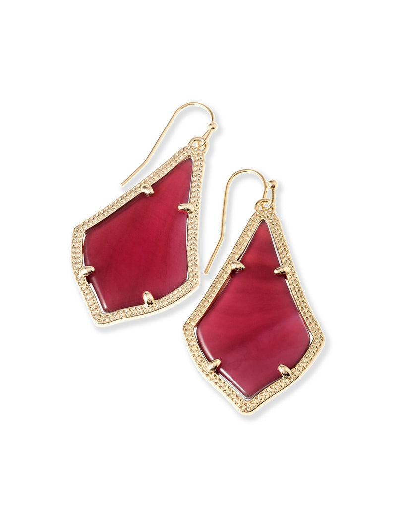 Kendra Scott Alex Earrings in Burgundy Illusion-Kendra Scott-The Bugs Ear