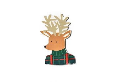 Happy Everything Plaid Reindeer Big Attachment-Coton Colors-The Bugs Ear