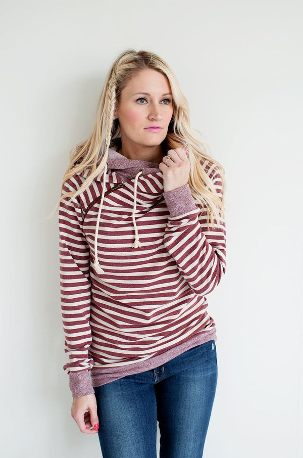 Ampersand Ave Rusted Stripe Hooded Sweatshirt-Ampersand Ave-The Bugs Ear