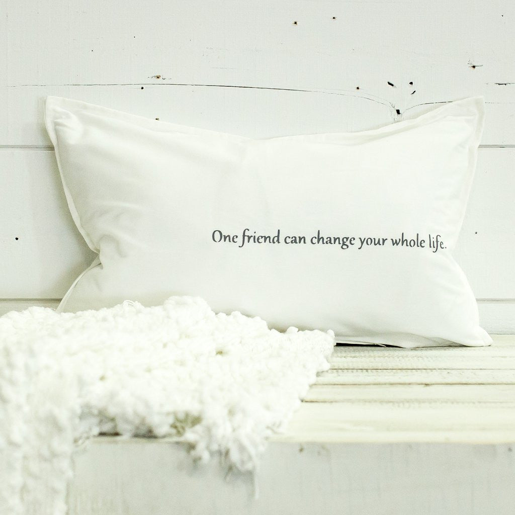 One Friend Can Change Your Whole Life Lumbar Pillow-Face to Face Designs-The Bugs Ear