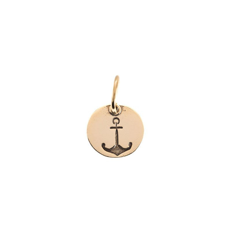 Benny and Ezra Small Circle Pendant Anchor-Benny and Ezra-The Bugs Ear