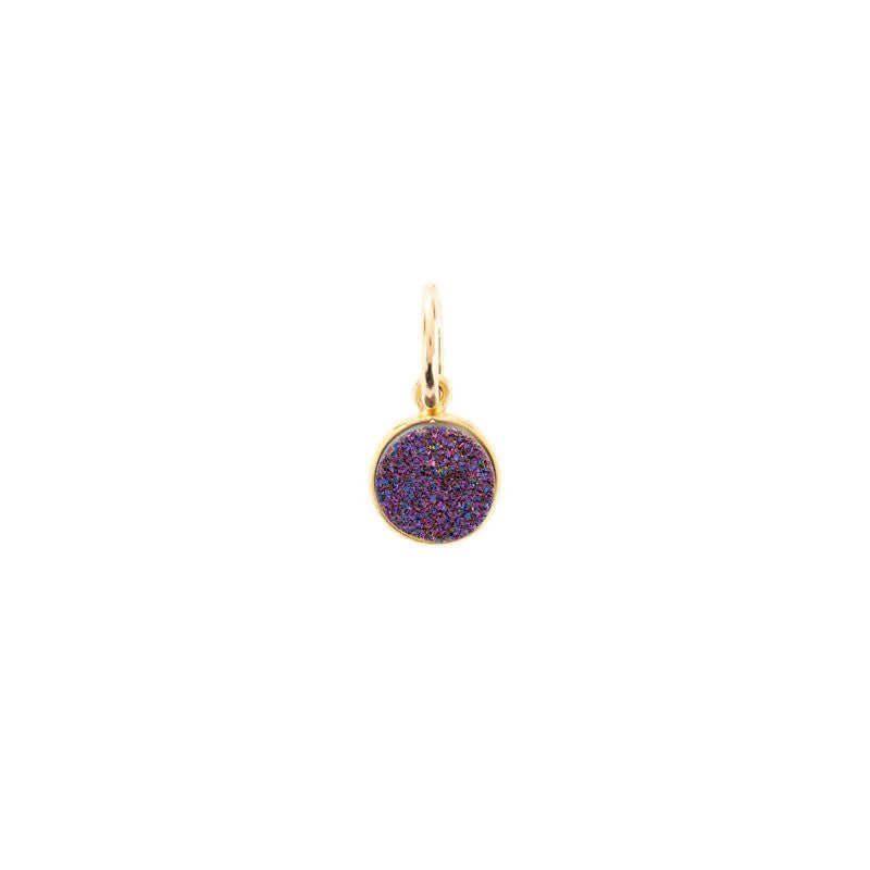 Benny and Ezra Tiny Druzy Pendant Violet-Benny and Ezra-The Bugs Ear