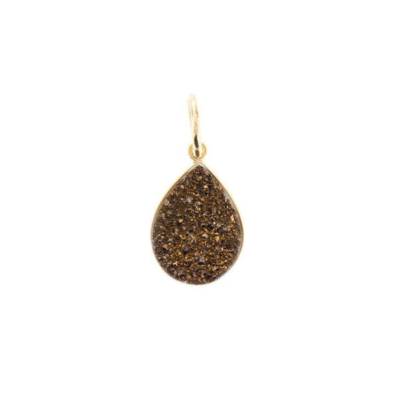 Benny and Ezra Pear Druzy Pendant Bronze-Benny and Ezra-The Bugs Ear