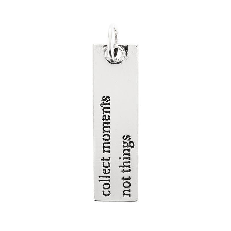 "Benny and Ezra Large Bar Pendant ""Collect Moments Not Things""-Benny and Ezra-The Bugs Ear"