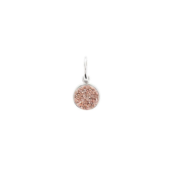 Benny and Ezra Tiny Druzy Pendant in Rose Gold Druzy-Benny and Ezra-The Bugs Ear