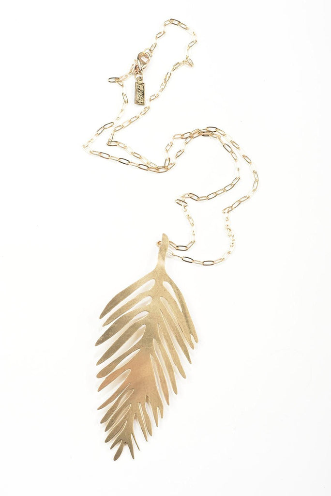INK ALLOY Brass Palm Pendant necklace-INK + ALLOY-The Bugs Ear