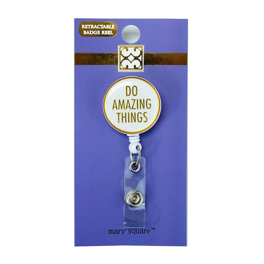 Do Amazing Things Badge Reel-Mary Square-The Bugs Ear