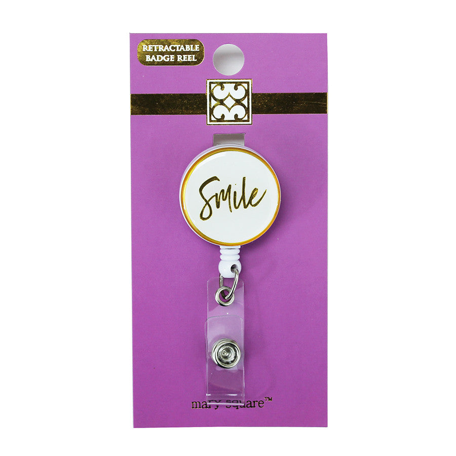 Smile Badge Reel-Mary Square-The Bugs Ear