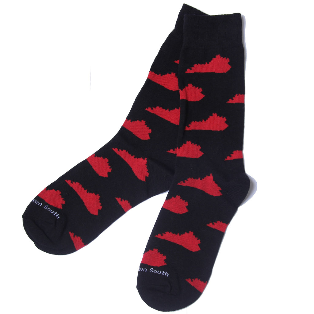 Black Red KY Socks-Barrel Down South-The Bugs Ear