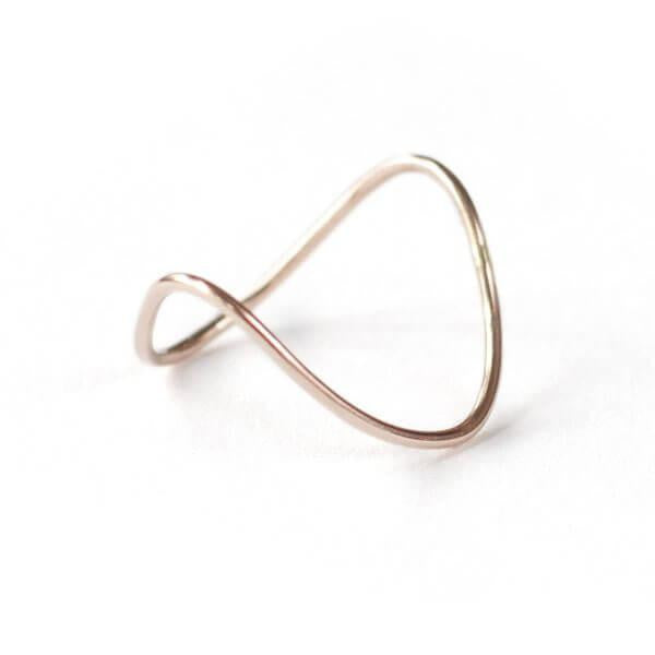 Gold Double V Ring-Fashionable-The Bugs Ear